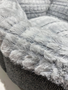 Tweed Plush Donut Bed - Ziggy Belle