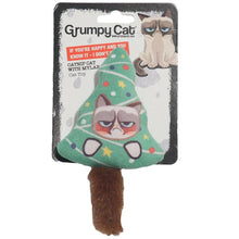 Load image into Gallery viewer, Grumpy Cat Plush Catnip Christmas Tree Toy - Ziggy Belle