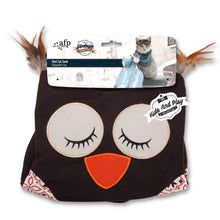 Load image into Gallery viewer, All For Paws Vintage Owl Cat Crinkle Sack - Brown - Ziggy Belle