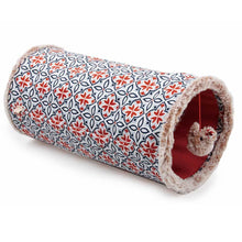 Load image into Gallery viewer, Cat Tunnel Crinkle Toys Orange Hide Play Teaser Indoor Outdoor Vintage - Ziggy Belle
