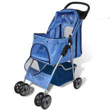 Load image into Gallery viewer, Foldable 4 Wheel Cat Stroller Travel Carrier - Ziggy Belle