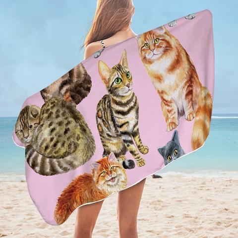 Painted Cats Beach Towel - Ziggy Belle