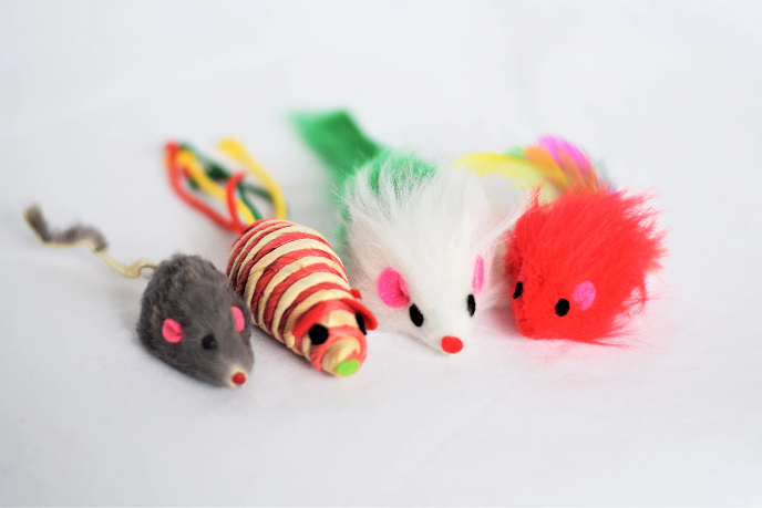 Set of 4 Interactive Cat Mouse Toys