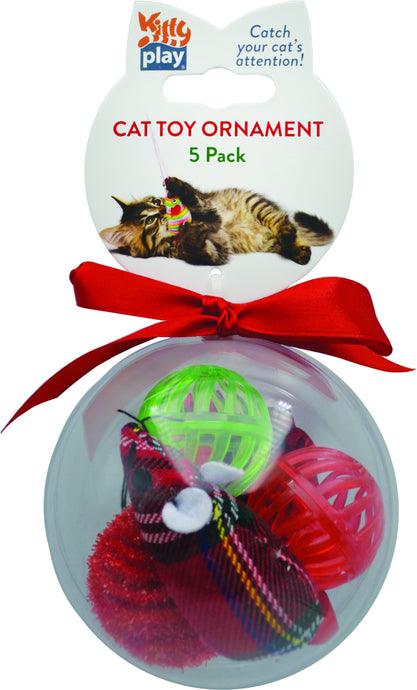 Kitty Play Christmas Cat Toy Ornament - Ziggy Belle