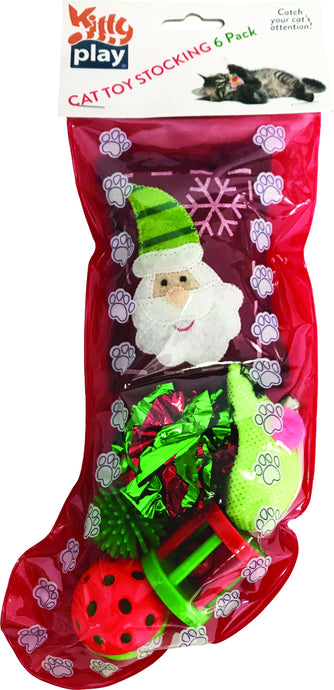 Kitty Play Christmas Cat Toy Stocking - Ziggy Belle
