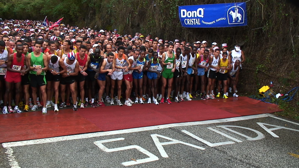 10122R - START OF RUNNING RACE, COAMO PUERTO RICO, SAN BLAS