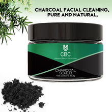 Load image into Gallery viewer, Activated Charcoal Scrub Infused with Collagen and Stem Cell. All Natural Body and Face Exfoliating Facial Wash, Blackheads Acne Scars, Pore Minimizer, Exfoliator, Anti Cellulite Skin Care