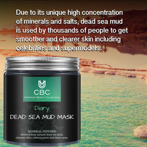 DEAD SEA MUD MASK- All NATURAL ,PORE REDUCER FOR ACNE- TIGHTENS SKIN FOR A HEALTHIER SKIN.