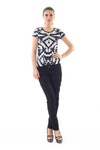 Load image into Gallery viewer, Short Sleeve Allover print Top