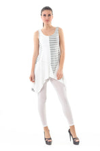 Load image into Gallery viewer, Asymmetrical Stripe Detail Tunic grey