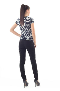 Short Sleeve Allover print Top