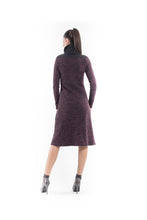 Load image into Gallery viewer, Wool Blend Polo Neck Dress