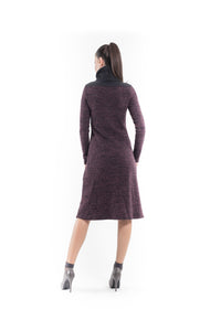 Wool Blend Polo Neck Dress