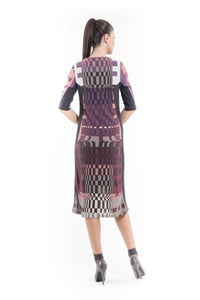 Geometric Pattern Sweater Dress