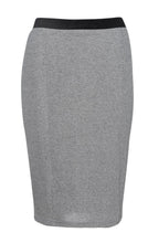 Load image into Gallery viewer, Silver Lurex Pencil skirt Conquista