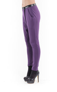 Crossover Pants aubergine