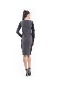 Wool Blend Straight Dress