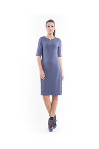 Stretch Fabric Shift Dress