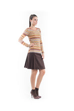 Load image into Gallery viewer, Stretch Long Sleeve Stripe Top