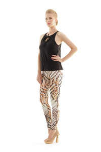 Animal Print Silky Pants
