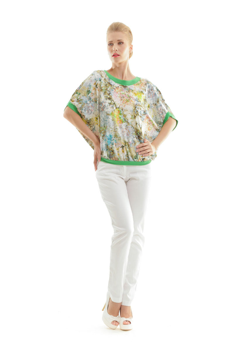 Billowy Floral Print Top