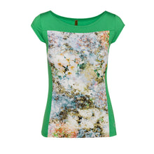 Load image into Gallery viewer, Floral Print Boat Neck Top in Green
