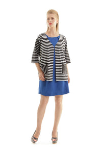 Stripe Pocket Detail Cardigan