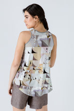 Load image into Gallery viewer, Print Halter Neckline Top