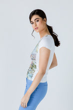 Load image into Gallery viewer, White Short Sleeve Floral Print Top