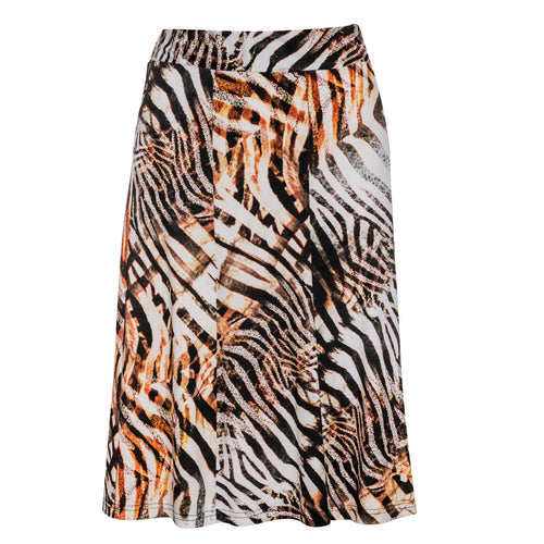 Animal Print Cloche Skirt