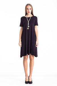 Dress With Uneven Hemline