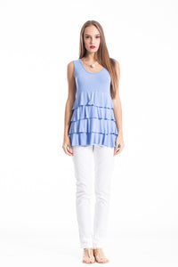 Sleeveless Tiered Frill Top