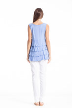 Load image into Gallery viewer, Sleeveless Tiered Frill Top