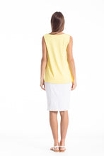 Load image into Gallery viewer, Sheer Detail Sleeveless Stretch Top