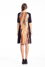 Load image into Gallery viewer, Animal Print A Line Dress