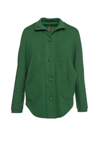 Raglan Sleeve Jacket in Green