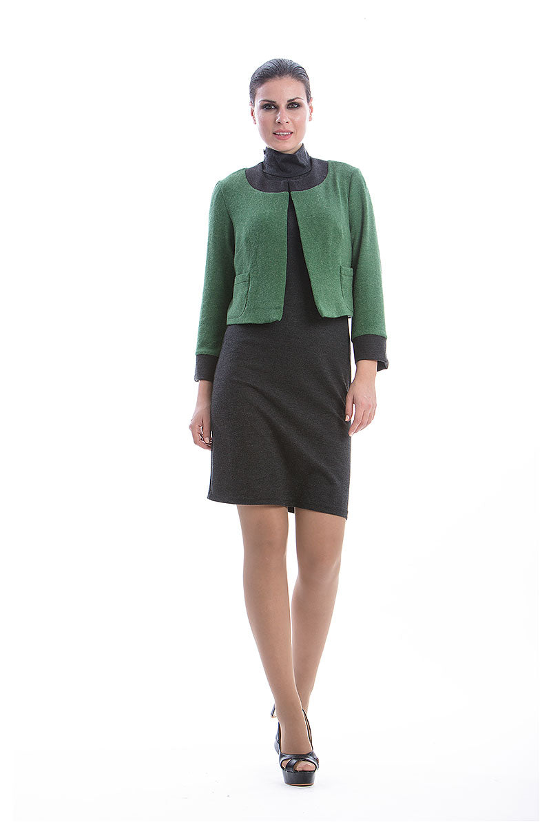 Green Long Sleeve Bolero