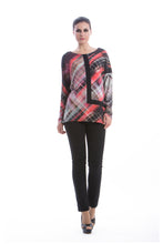 Load image into Gallery viewer, Long Sleeve Geometric Print Top