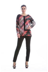 Long Sleeve Geometric Print Top