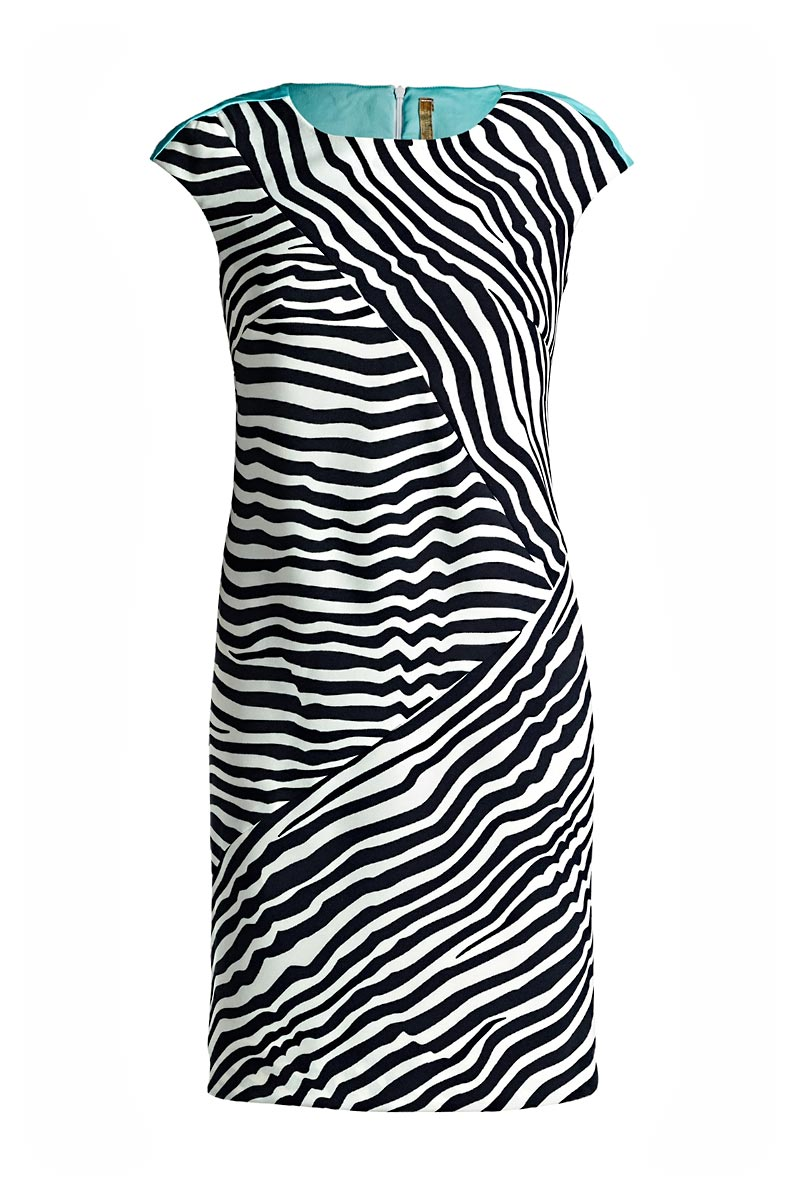 Sleeveless Striped Fitted Dress
