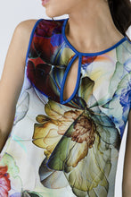 Load image into Gallery viewer, Royal Blue Keyhole Detail Print Top