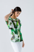 Load image into Gallery viewer, Print Flama Top with Tie Detail