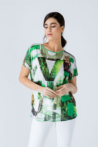 Print Flama Top with Tie Detail