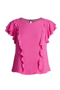 Frill Detail Short Sleeve Top