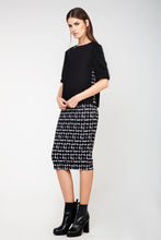 Load image into Gallery viewer, High-Waisted Midi Pencil Skirt