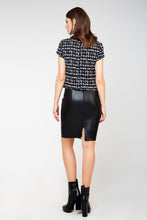 Load image into Gallery viewer, Leather Look Pencil Skirt
