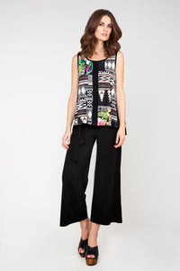 Sleeveless Jungle Print Top