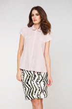 Load image into Gallery viewer, Short Sleeve Poplin Blouse
