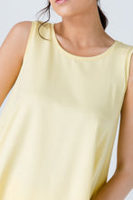 Load image into Gallery viewer, Yellow Sleeveless Top with Rounded Hemline