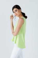 Load image into Gallery viewer, Green Sleeveless Top with Rounded Hemline